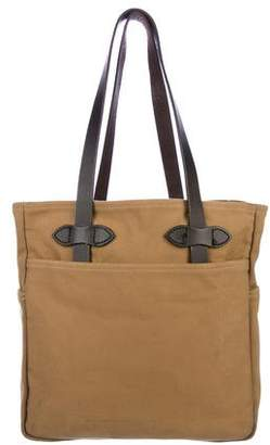 Filson Leather-Trimmed Canvas Tote