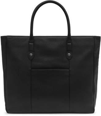 Reiss ORDER BY MIDNIGHT DEC 15TH FOR CHRISTMAS DELIVERY TIMMER GRAINED LEATHER TOTE BAG Black