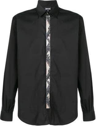 Just Cavalli contrast-placket fitted shirt