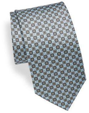 BrioniVintage Floral Print Silk Tie