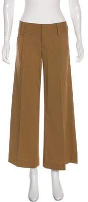 Alice + Olivia Wool Mid-Rise Wide-Leg Pants