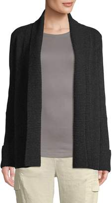 Vince Open-Front Wool & Cashmere Blend Cardigan