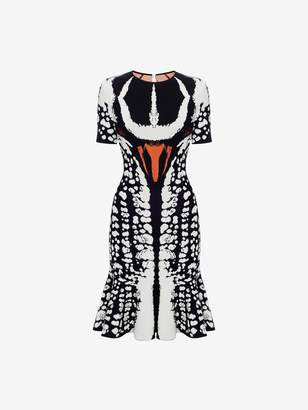 Alexander McQueen Beetle Jacquard Mini Dress