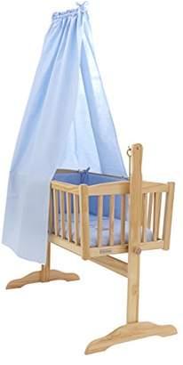 Clair De Lune Freestanding L Drape and Rod Set For Cribs/Cots and Cradles, Blue