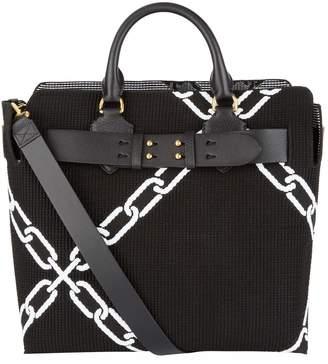 Burberry Medium Embroidered Belt Tote Bag