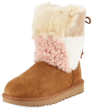 UGG Classic Patchwork Fluff Boots