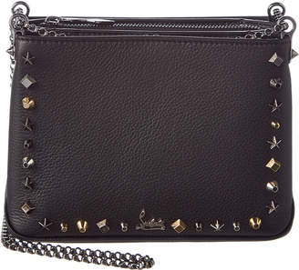 Christian Louboutin Triloubi Small Leather Chain Shoulder Bag