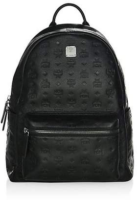 MCM Embossed Backpack
