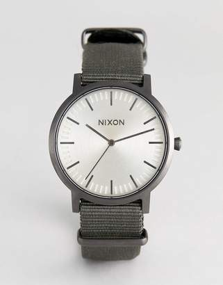 Nixon A1059 Porter Canvas Watch In Green