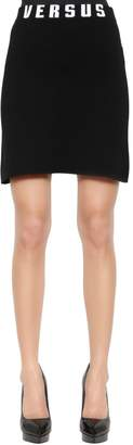 Versus Stretch Viscose Jersey Mini Skirt