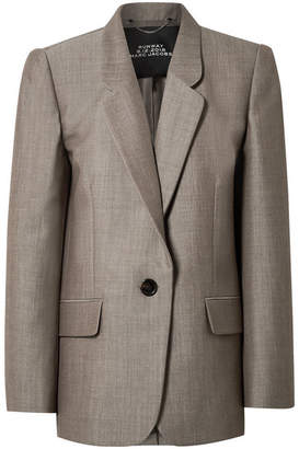 Marc Jacobs Oversized Wool And Mohair-blend Blazer - Gray