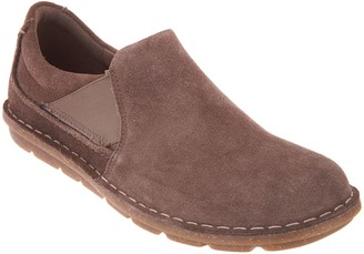 Clarks Collection Suede Slip-On Shoes - Tamitha Gwyn