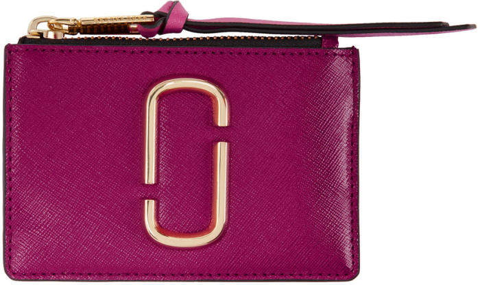Marc Jacobs Pink Double J Snapshot Card Holder