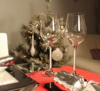 Swarovski Diamond Affair Pair Of Wine Glasses With Crystals