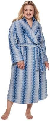 Sonoma Goods For Life Plus Size SONOMA Goods for Life Long Plush Wrap Robe