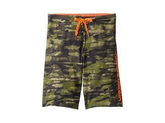 0211153e05 Under Armour Kids Grit 1/2 Back Elastic Boardshorts (Big Kids)