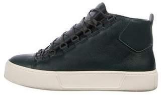 Balenciaga Leather High-Top Sneakers