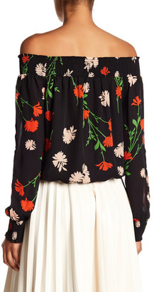 Adrienne Vittadini Off-the-Shoulder Smocking Trim Blouse $78 thestylecure.com