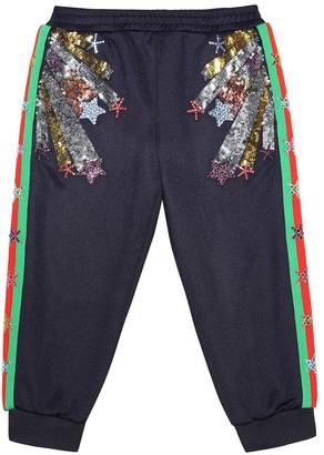 Gucci Kids Embellished cotton-blend trackpants