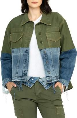 Hudson Jeans Twill & Denim Combo Jacket