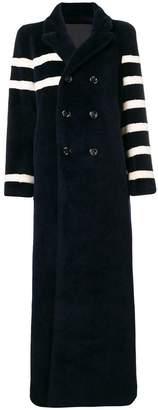 Each X Other asymmetric stripe coat