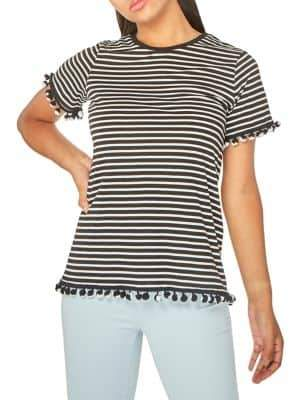 Dorothy Perkins Striped Pom-Pom T-Shirt