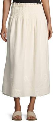 Current/Elliott The Rancher Convertible Maxi Skirt, Beige