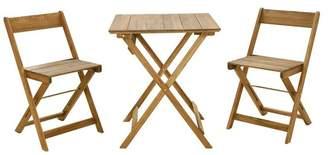 Linon Home Décor Products Raven Brown 3-Piece Square Table Set