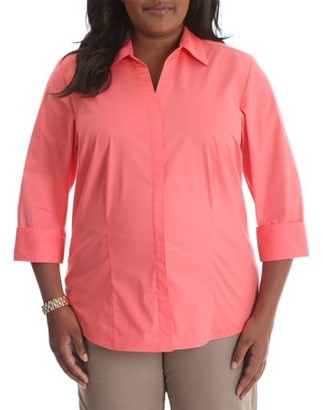 Lee Women's Plus 3/4 Sleeve Classic Career Shirt