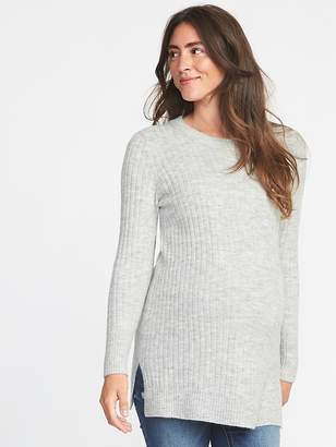 Old Navy Maternity Plush Rib-Knit Tunic Sweater