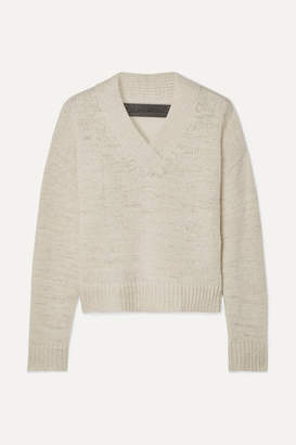 The Elder Statesman Cashmere Sweater - Cream