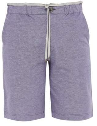 Zimmerli Contrast Panel Cotton Pyjama Shorts - Mens - Blue