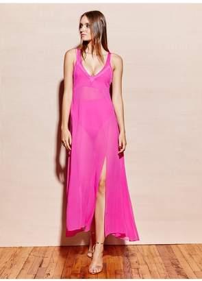 Fleur Du Mal Full Sweep Silk Slip Dress