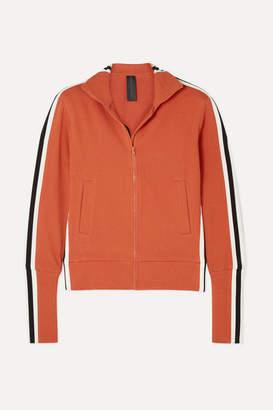 Norma Kamali Striped Stretch-cotton Jersey Track Jacket - Red