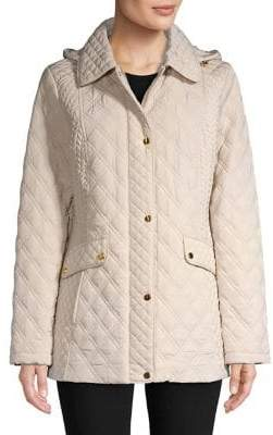 Jones New York Quilted Long-Sleeve Jacket
