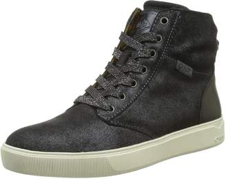 La Redoute P-L-D-M-By Palladium Womens Tender Leather High Top Lace-Up Trainers