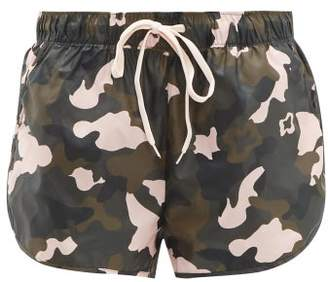 The Upside Forest Camo Print Running Shorts - Womens - Multi