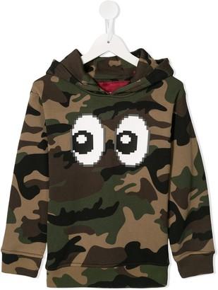 Mostly Heard Rarely Seen 8-Bit Eyez print camouflage hoodie