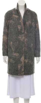 Fabiana Filippi Fur Blend Knee-Length Coat
