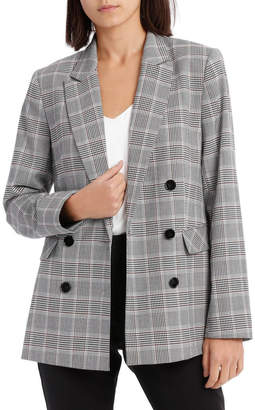 Double Breasted Check Blazer