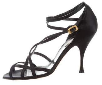 Michael Kors Satin Multistrap Sandals