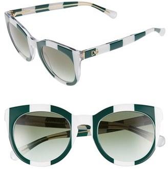 Dolce&Gabbana 50mm Round Sunglasses $185 thestylecure.com