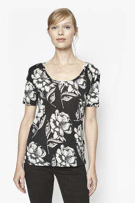 Shadow Bloom Monochrome T-Shirt