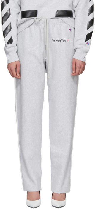 Off-White Grey Champion Edition Sweatpants