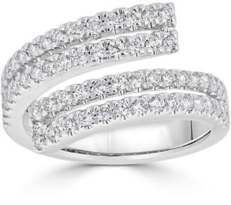 Neiman Marcus Diamonds 18k Four-Row Split Diamond Ring Size 7