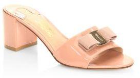 Salvatore Ferragamo Eolie Leather Slides