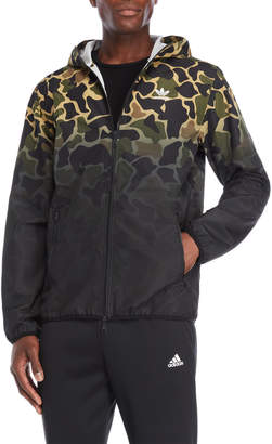 adidas Camouflage Hooded Windbreaker Jacket