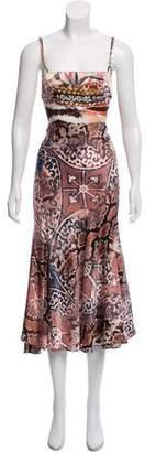 Just Cavalli Silk-Blend Midi Dress
