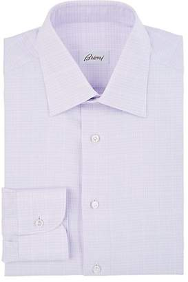 Brioni Men's Checked Cotton Poplin Dress Shirt