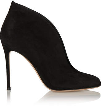 Gianvito Rossi Vamp 100 Suede Ankle Boots - Black